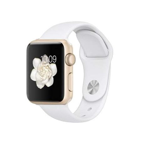 White Witch Alice In Wonderland (Apple Watch Generation 1 38MM Smart Watch in Gold with White Silicone Band)