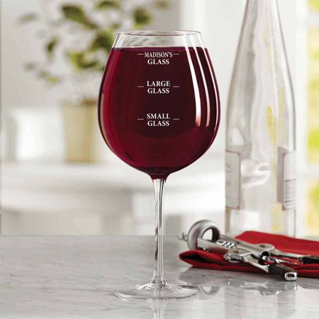 Personalized Measuring Marks Colossal Wine Glass (Personalized Plastic Wine Glasses)
