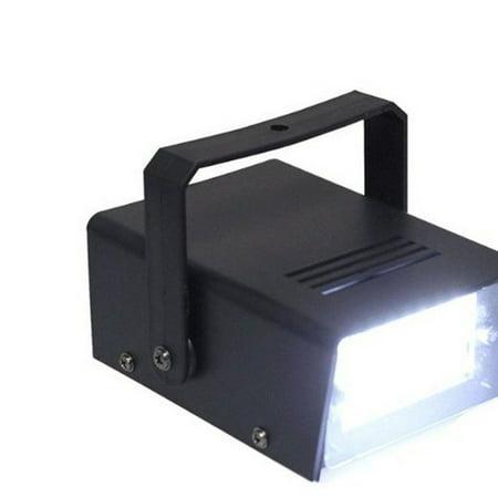 "3.5"" Mini Disco 24 LED White Flashing Strobe Light"