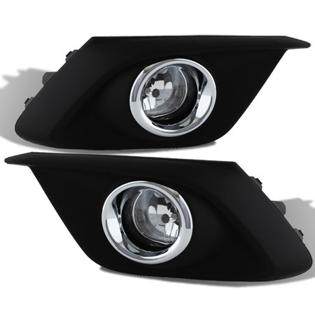 Fit 2014-2016 Mazda 3 Mazda3 4/5Dr Bumper Fog Lights W/Switch+Bulbs Replacement 3 Fog Light Replacement