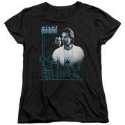 Miami Vice Looking Out Womens Short Sleeve Shirt