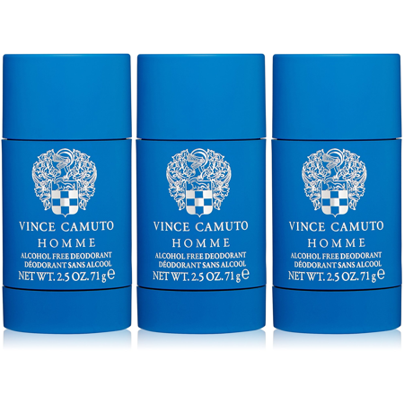 Homme Deodorant Stick Alcohol - Vince Camuto Homme Deodorant Stick Alcohol Free for Men, 2.5 Oz - 3 Pack