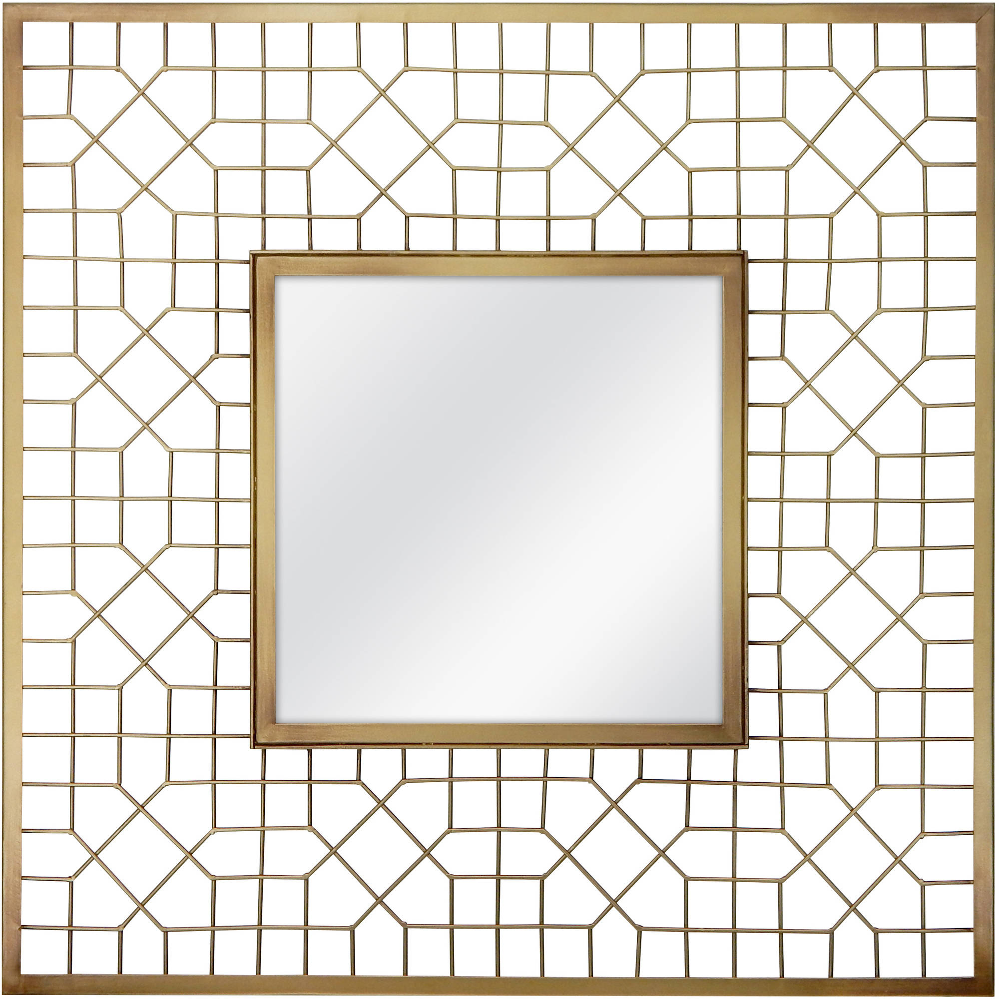 "Better Homes and Gardens 20"" Square Metal Mirror"