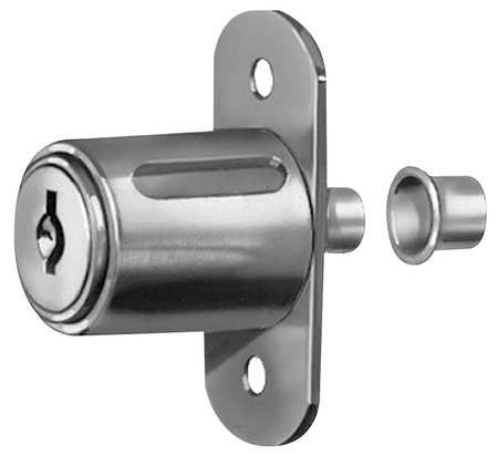 COMPX NATIONAL C8043-KD-14A Sliding Door Lock, Nickel,Key Different