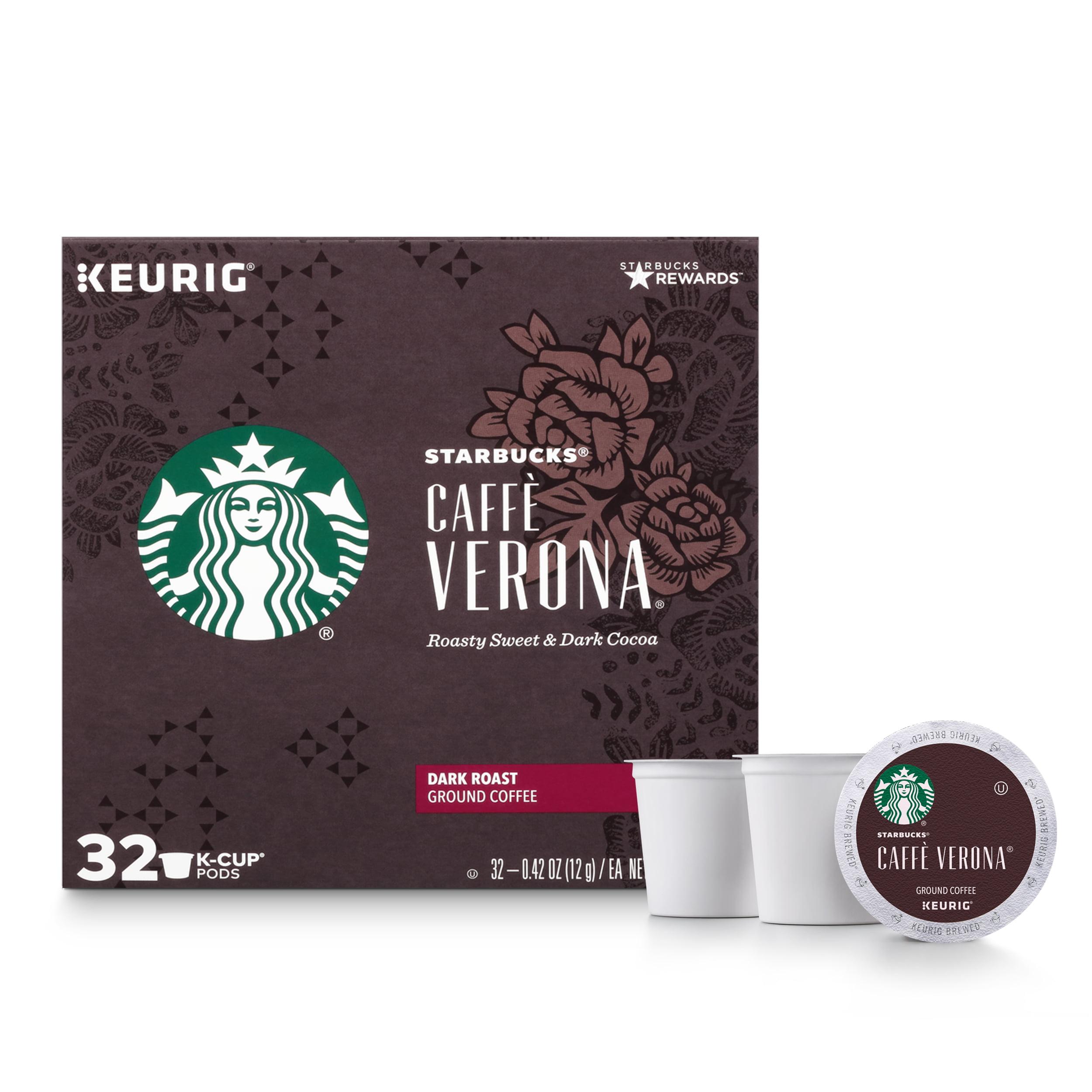 Starbucks Caffè Verona K-Cup Coffee Pods, Dark Roast, 32 Count
