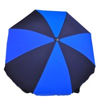 7.5 ft. Steel Commercial Grade Beach Umbrella with Ash Wood Pole & Acrylic Fabric
