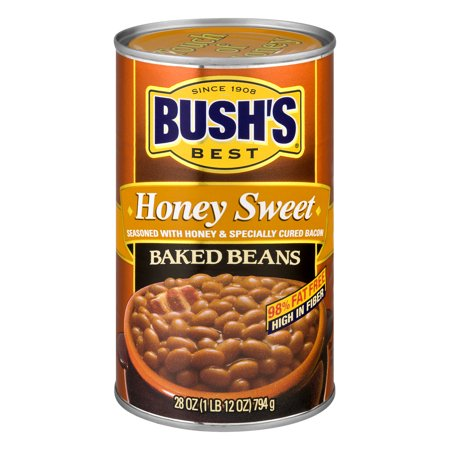 (6 Pack) Bush's Best Honey Baked Beans, 28 Oz