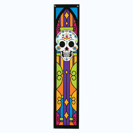 Fun Express - Day Of The Dead Wall Pennants (2pc) for Halloween - Party Decor - Wall Decor - Misc Wall Decor - Halloween - 2 Pieces