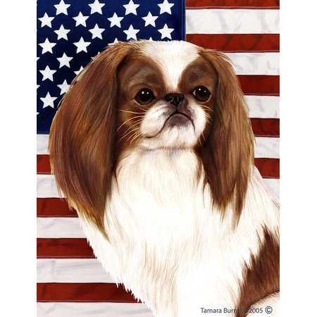Japanese Chin Red and White - Best of Breed Patriotic II Garden