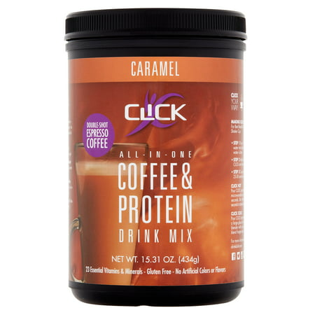 Click All-in-One Caramel Coffee & Protein Drink Mix, 15.31