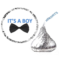 216 Its a Boy Baby Shower Party Favor Hershey's Kisses Stickers / Labels