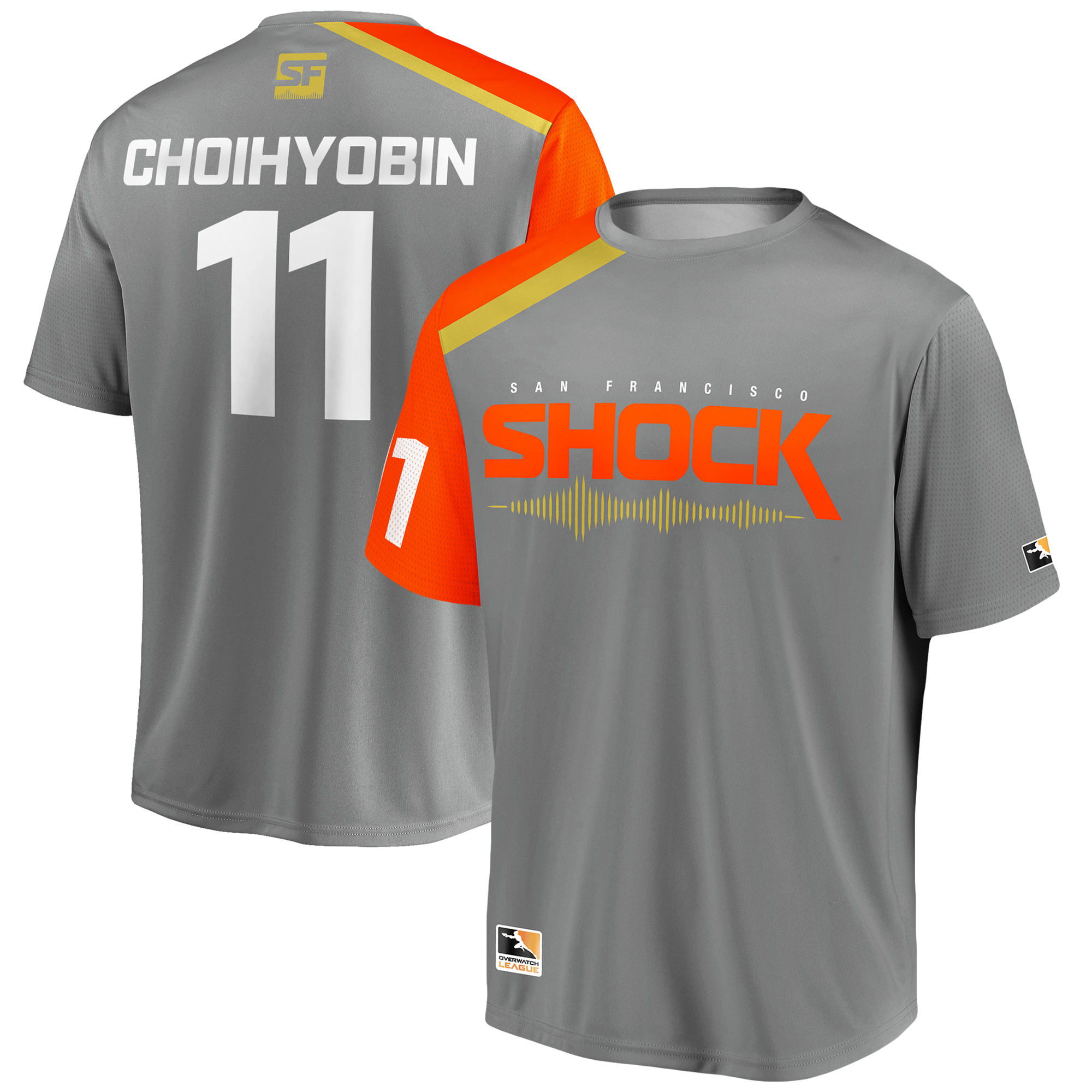 Choihyobin San Francisco Shock Overwatch League Replica Home Jersey - Gray