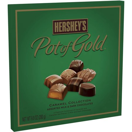 Hersheys Pot Of Gold Caramel Collection Chocolate Christmas Candy Box, 28 Ct, 9.9 Oz.