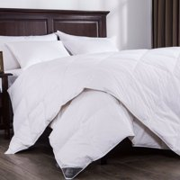Puredown Lightweight White Down Comforter Light Warmth Duvet Insert 100% Cotton 550 Fill Power, Twin Size, White