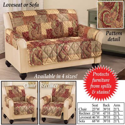 Magnificent Paisley Floral Patchwork Furniture Cover Loveseat Gmtry Best Dining Table And Chair Ideas Images Gmtryco