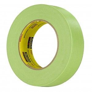 "3M 26338 Scotch 233+ Green Automotive Masking Tape, 1.41"" x 55m, 1 Roll"