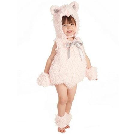 Halloween Girl's Shaggy Pink Kitty Toddler Costume - Naughty Kitty Costume