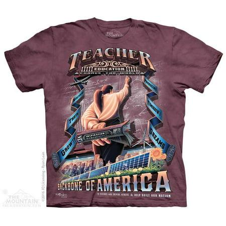 The Mountain Teacher Woman Adult T Shirt Tee