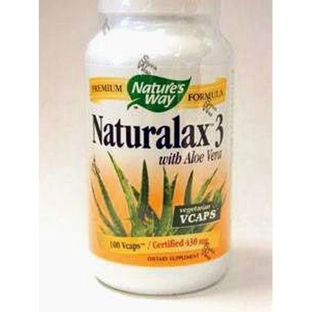 Nature's Way Nurturalax 3 with Aloe Vegetarian Capsules, 100 (100 Cap Aloe)
