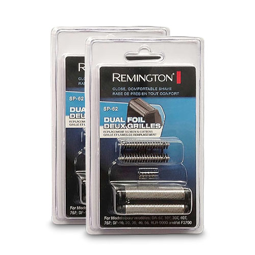 Remington SP-62 (2-Pack) 2 Replacement Foil & Cutters Works With DF, DA & XLR 9000 Series