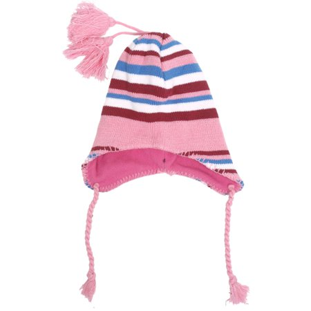 Kids Girls Boys Children Soft Winter Warm Earflap Beanie Knitted Ski Hat Winter Ski Earflap