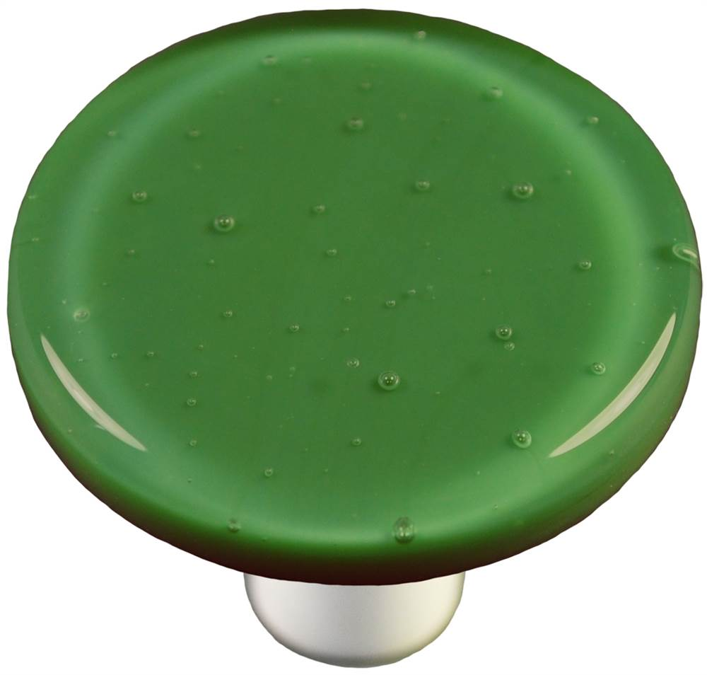 Round Knob in Dark Forest Green (Aluminum)