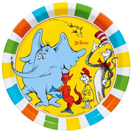 Dr. Seuss Favorites Dinner Plates (8) - Dr Seuss Photo Booth