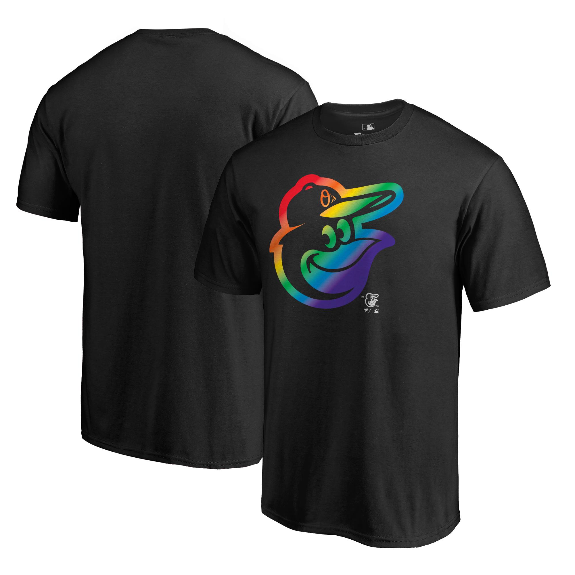 Baltimore Orioles Fanatics Branded Pride T-Shirt - Black