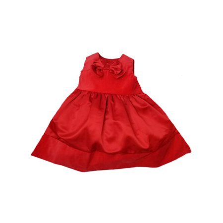 dba8c9db243fd Carters Infant Girls Red Velvet Bow Christmas Holiday Party Dress -  Walmart.com
