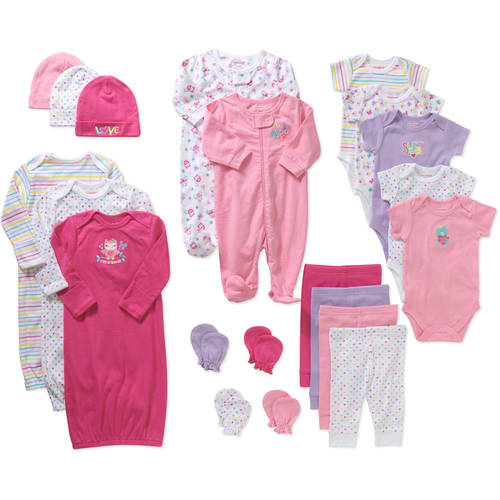 Garanimals Newborn Baby Girl 21 Pc Layette Baby Shower Gift Set
