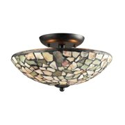 Wistaria Lighting Trego 2 Light Semi Flush Mount