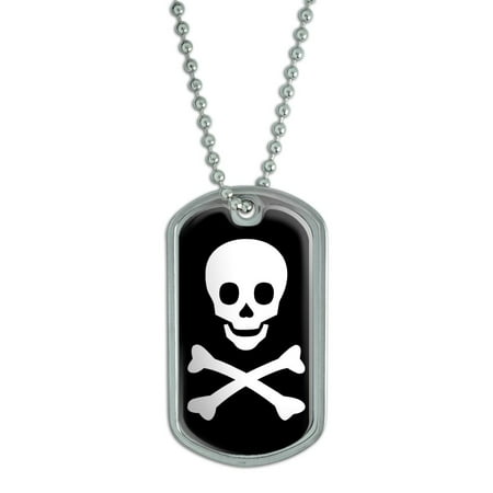 Skull and Crossbones Dog Tag