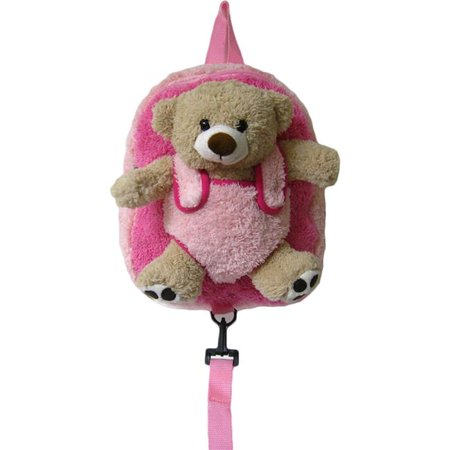Kreative Kids 46201 Bear Safety Harness Leash Backpack with Removable Plush Animal - Pink
