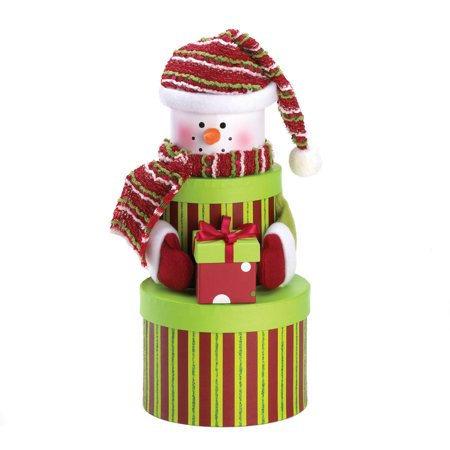 Snowman Tiered Gift Boxes