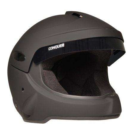 Conquer Snell SA2015 Approved Open Face Rally Racing Helmet OF (Open Face Racing Helmets)