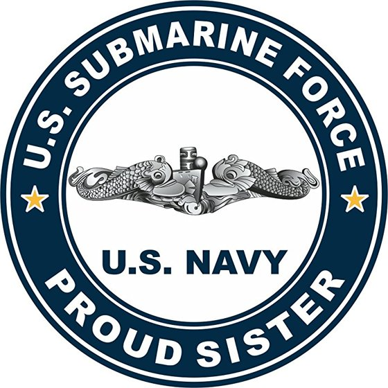 Us Submarine Force Proud Sister 5 5 Inch Decal Walmart Com