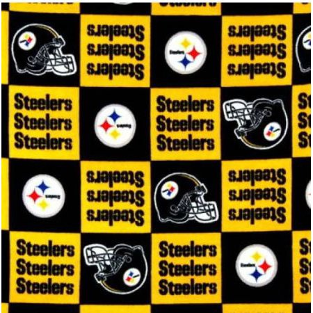 Nfl Team Fabric - NFL PITTSBURGH STEELERS #3 Licensed Fleece Fabric BTY