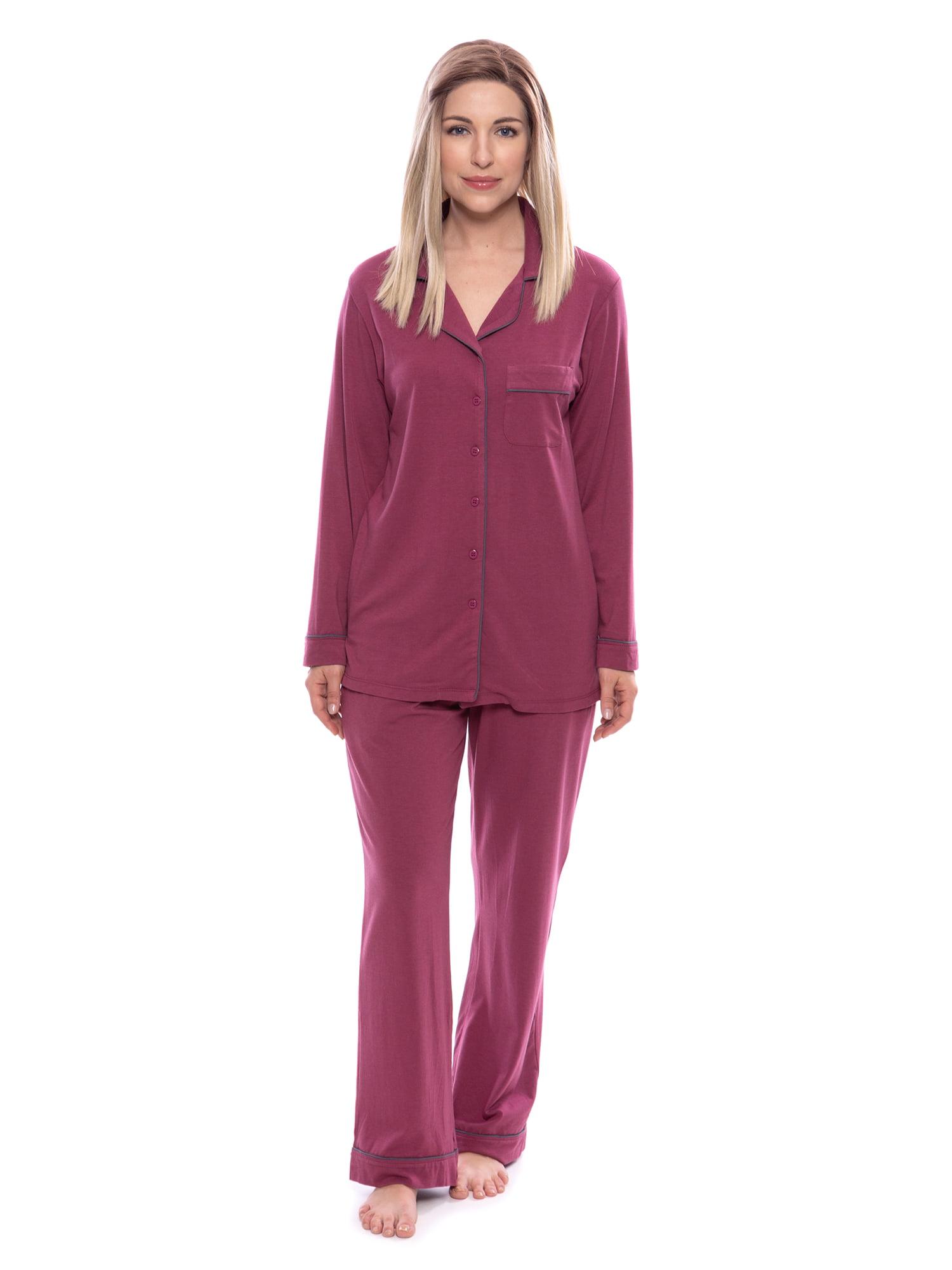 Women's Button-Up Long Sleeve Pajamas - Sleepwear set by Texere (Classicomfort)