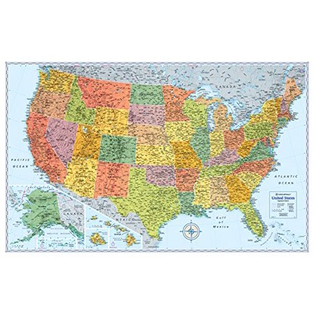 Rand Mcnally Signature United States Wall Map   Laminated