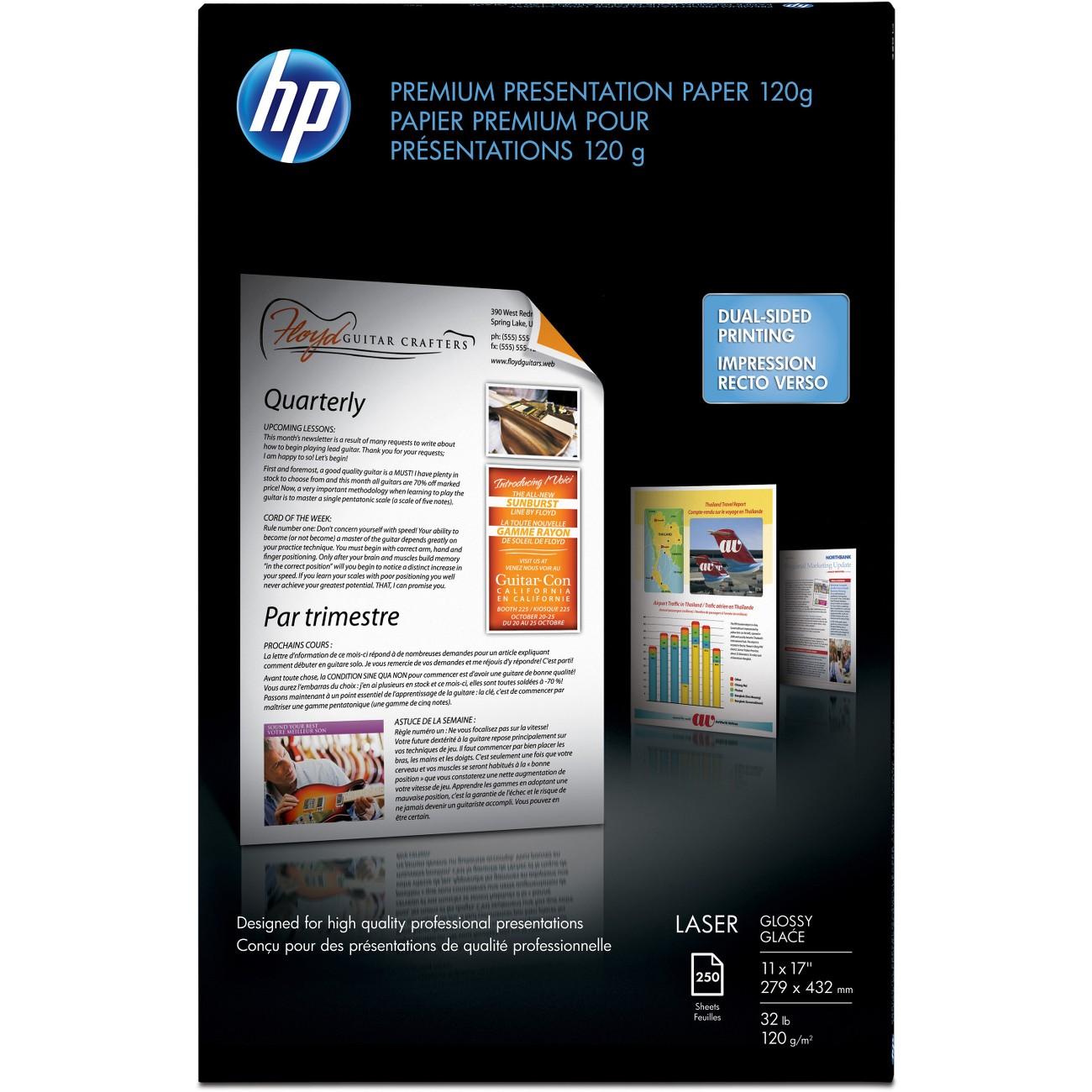 HP PAPER,LSR,GLSSY,11X17,250