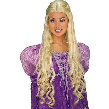 Renaissance Costume Blonde Princess Guinevere Wig