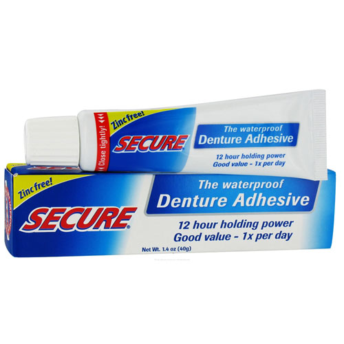 Secure Denture Adhesive >> Bioforce A.Vogel Secure Denture Adhesive Waterproof Bonding Cream Zinc Free, 1.4 Oz, 2 Pack ...