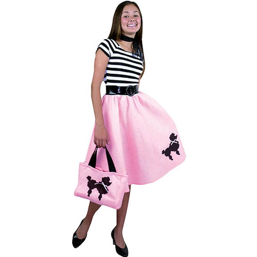 Pink Poodle Dress Kids Costume