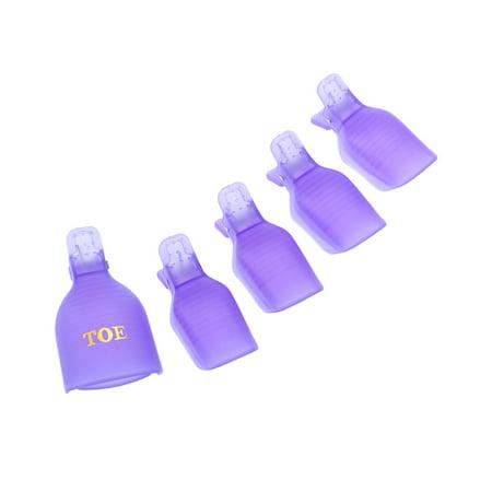 Soak Off Gel Remover (5Pcs UV Gel Nail Removers Soaker Caps Nail Polish Soak Off Toenail Clips )