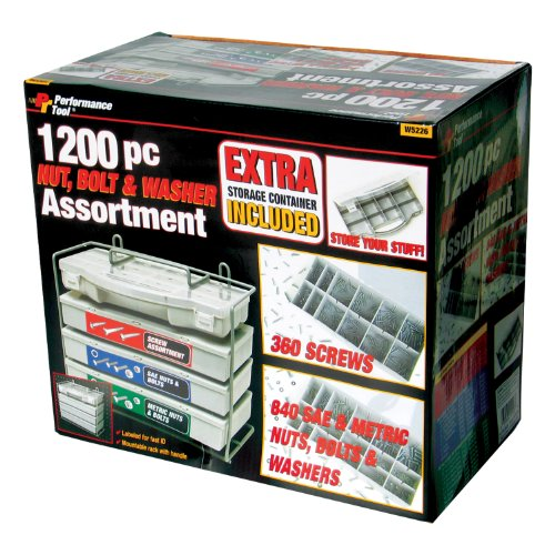 Wilmar W5226 1200 Piece Nut And Bolt Assortment
