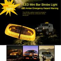 240 LEDs Light Bar Roof Top Emergency Beacon Warning Flash Strobe Yellow Amber