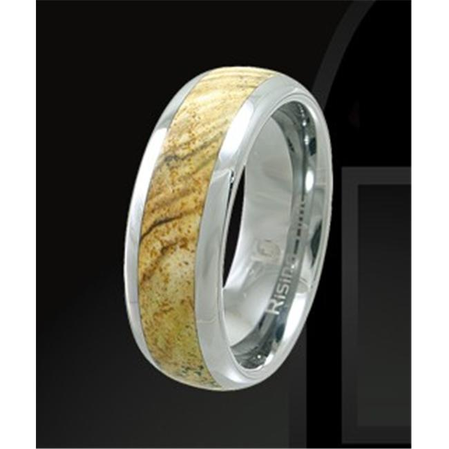 Rising Time TN-3108-sz-9 Tungsten Band With Star Jasper Stone Inlay Ring Size- 9