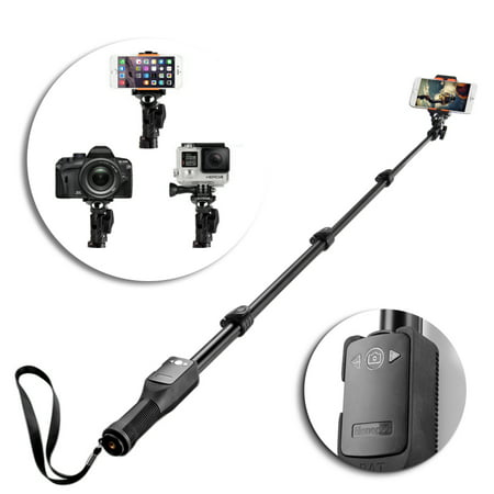 professional selfie stick heavy duty sports handheld extendable self portrait monopod with. Black Bedroom Furniture Sets. Home Design Ideas