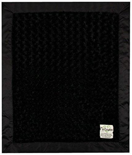 "My Blankee Luxe Snail Baby Blanket, 14"" x 17"", Black"