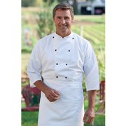 0975-2510 3/4 Epic Sleeves Chef Shirt in White - 6XLarge